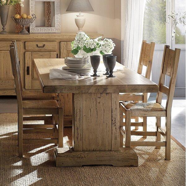 Higgins Solid Wood Dining Table by Loon Peak Loon Peak
