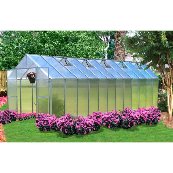 Monticello 8 Ft. W x 24 Ft. D Hobby Greenhouse by Riverstone Industries