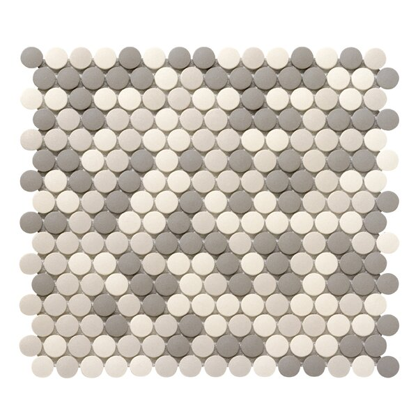Zone 0.8 x 0.8 Porcelain Mosaic Tile in Light Blend by Emser Tile
