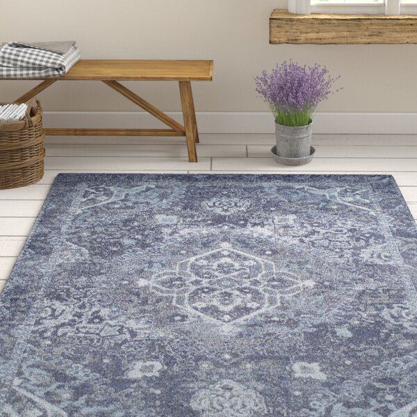 Bevin Navy Blue Area Rug by Ophelia & Co.