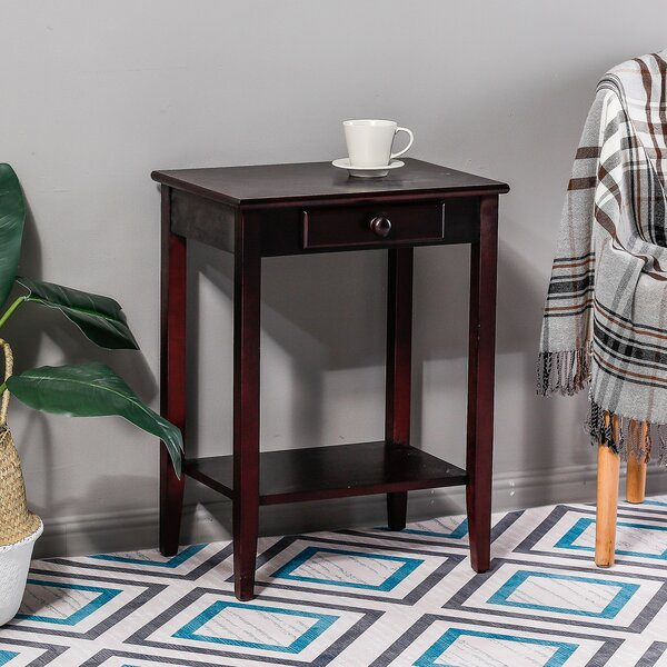 Kevin Single Drawer End Table by Longshore Tides
