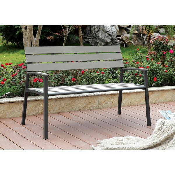 Valcourt Outdoor Aluminum Park Bench by August Grove