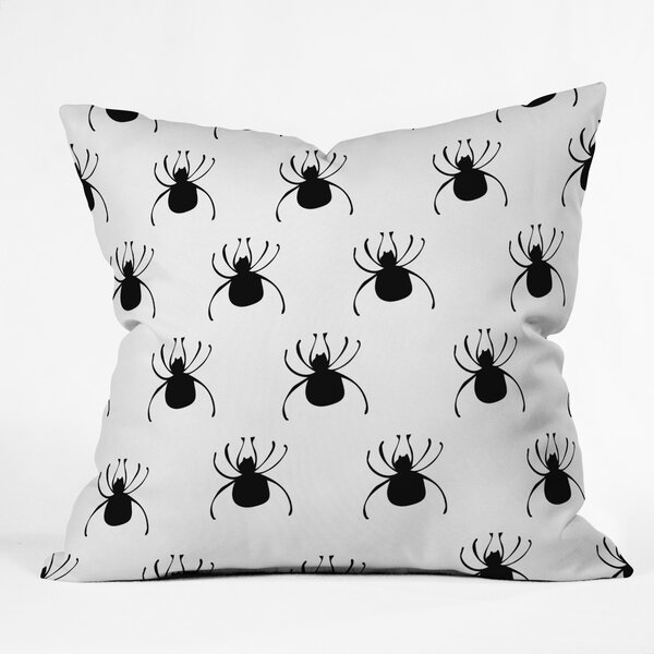 Spiders Throw Pillow by East Urban Home
