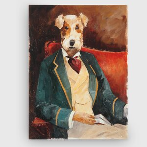 'Edar Allen Paw' Painting Print on Wrapped Canvas by Winston Porter