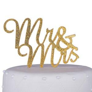 Mr. & Mrs. Script Acrylic Cake Topper