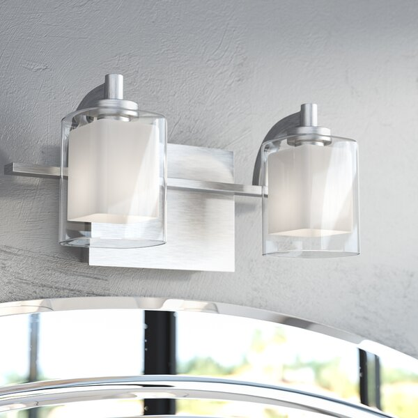 Aldrich 2-Light Vanity light by Wade Logan