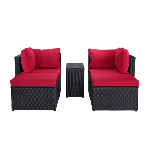 Wendling Outdoor Patio Configurable 5 Piece Sofa Seating Group with Cushions by Ebern Designs Ebern Designs