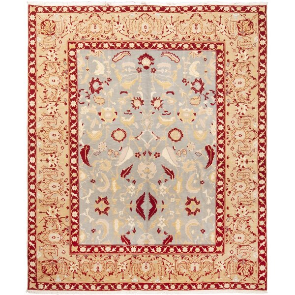 One-of-a-Kind Draeger Hand-Knotted Beige 9'1 x 11' Wool Area Rug
