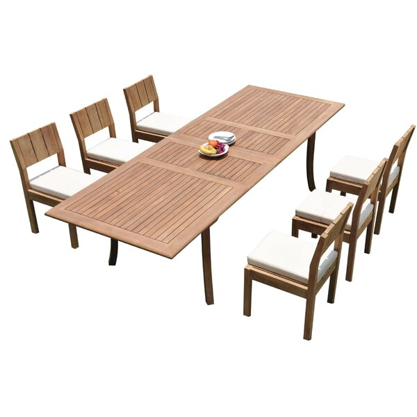 Indurial 7 Piece Teak Dining Set by Rosecliff Heights