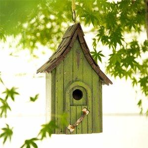 Hanging Wooden Garden 11.61 In X 4.92 In X 3.66 In Birdhouse
