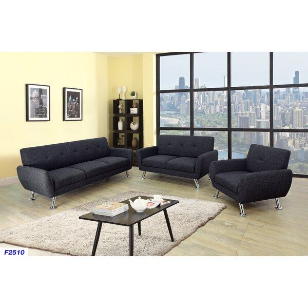 Lindy 3 Piece Living Room Set by Ebern Designs