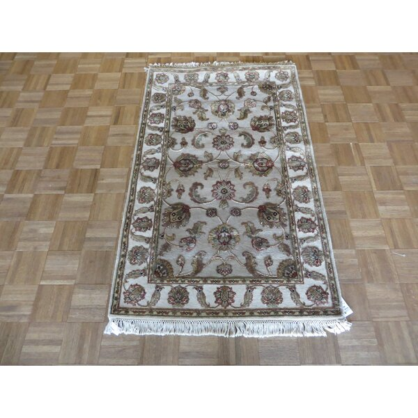 One-of-a-Kind Rhyne Hand-Knotted Wool Light Gray Area Rug by Astoria Grand