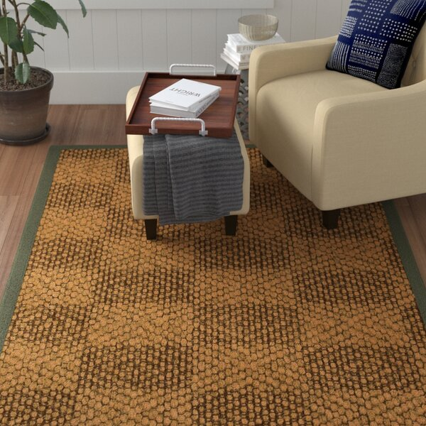 Hearne Hand Woven Brown Area Rug by Winston Porter