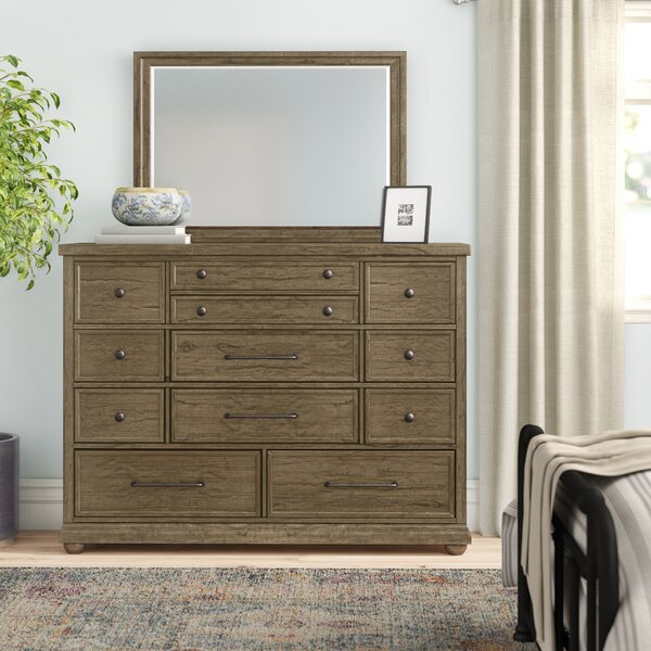 Aberdash 11 Drawer Dresser with Mirror by Three Posts