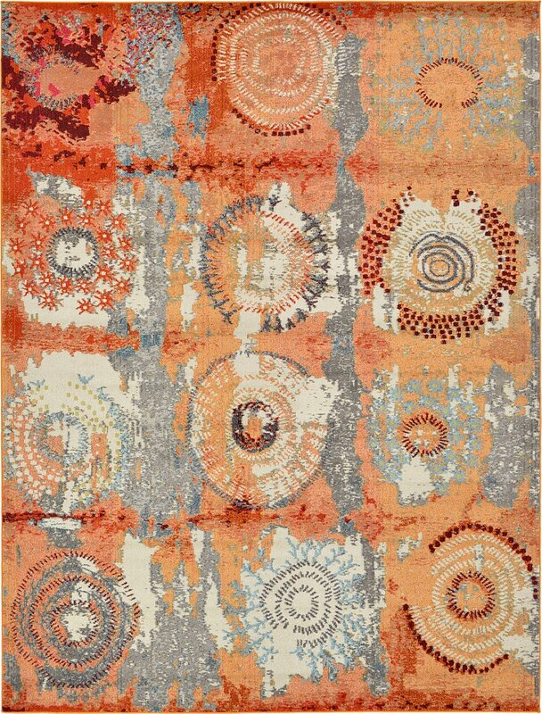 Hayes Orange Area Rug