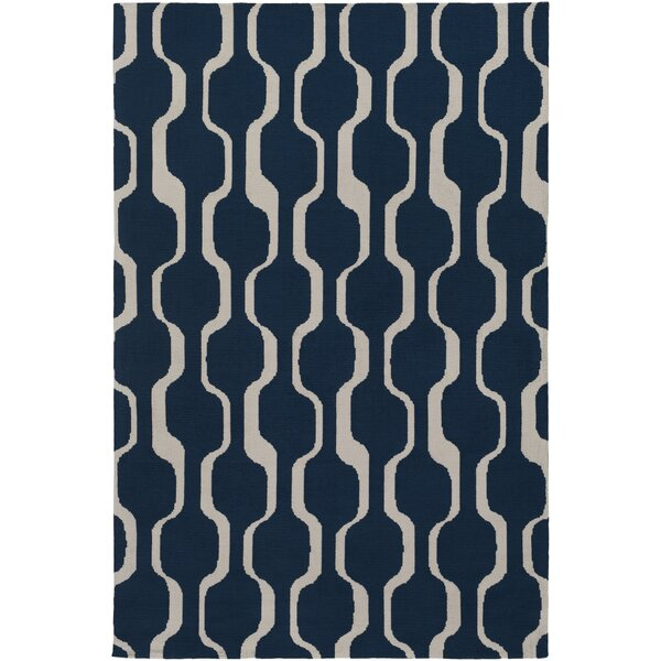 Zaire Hand Tufted Navy Blue Area Rug by George Oliver