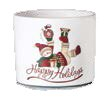Snowman Design Painted Dolomite Pot Planter by The Holiday Aisle