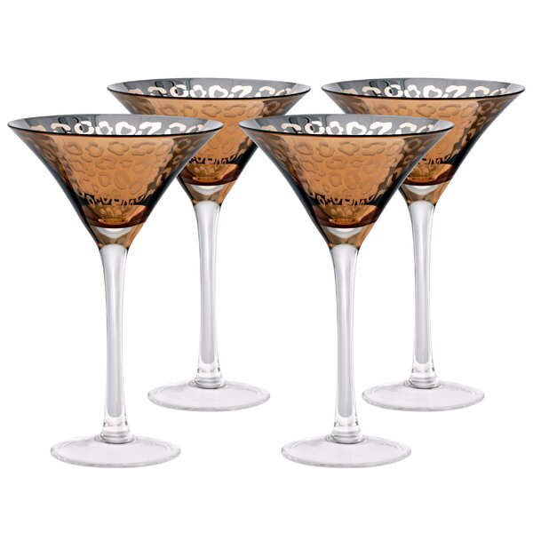 Leopard 8 Oz. Martini Glass (Set of 4) by Artland