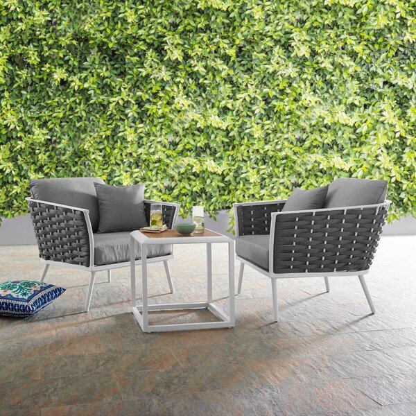Rossville 3 Piece Seating Group with Cushions by Ivy Bronx