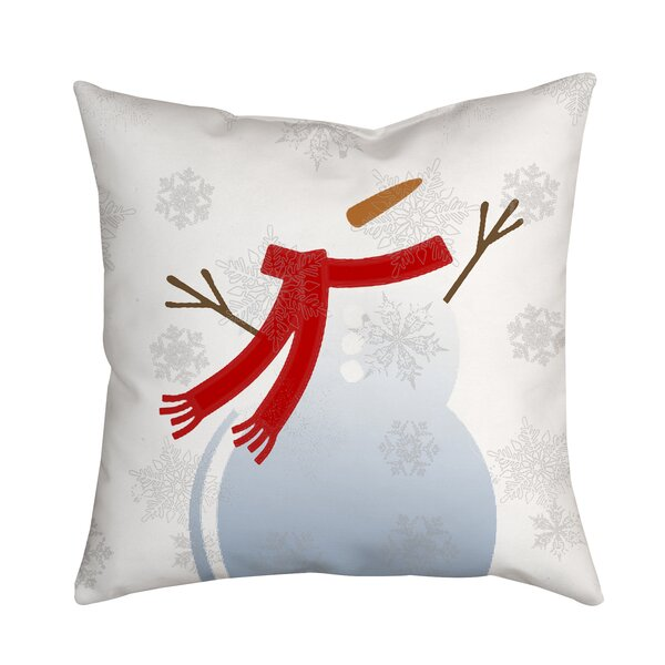 Holiday Treasures Mr. Snowman Throw Pillow by Positively Home