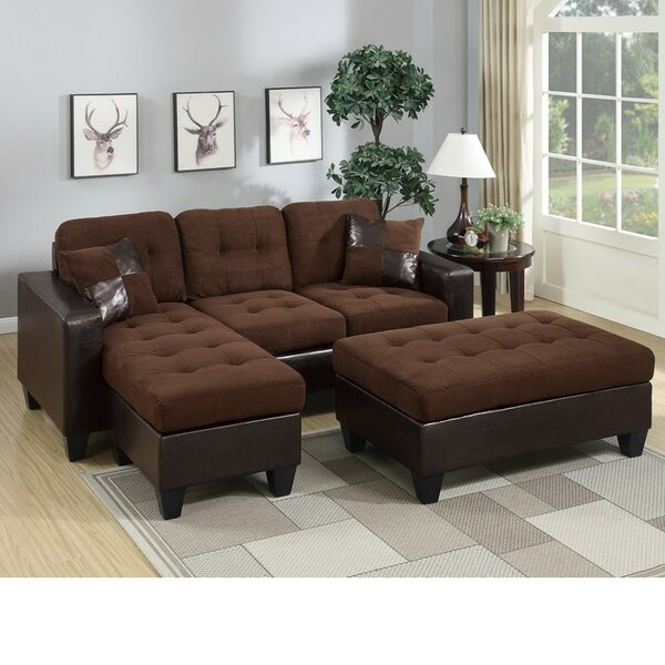 Park Ridge Reversible Sectional with Ottoman by Winston Porter