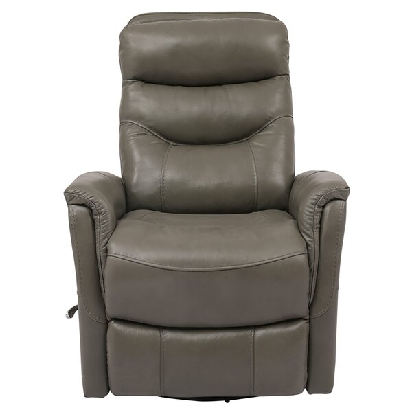 Unruh Leather Manual Swivel Glider Recliner W002713853
