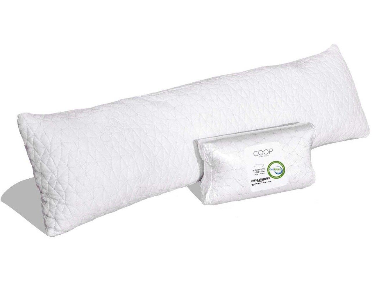 Coop Home Goods Shredded Memory Foam Body Pillow Wayfair