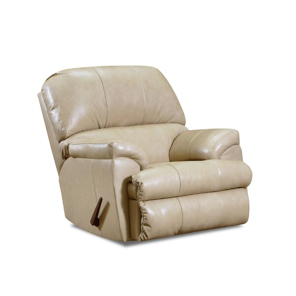 Bryd Leather Manual Rocker Recliner [Red Barrel Studio]