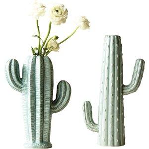 Bungalow Lane Stoneware Cactus Table vase