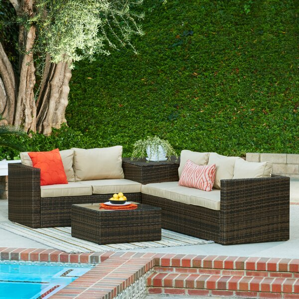 Armbruster 4 Piece Sectional Set with Cushions by Brayden Studio