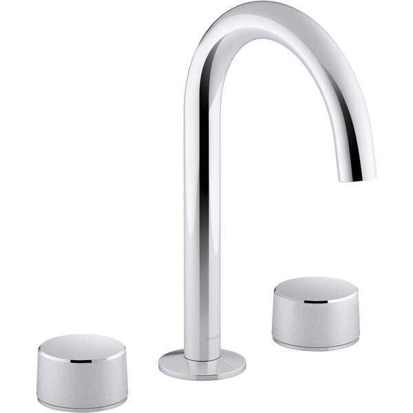 Components Wide Spread Bathroom Faucet with Cylinder Handles