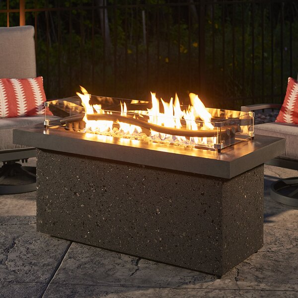 Boreal Complete Heat Linear Aluminum Fire Pit Table by The Outdoor GreatRoom Company