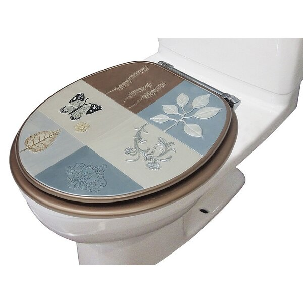 Nate Butterfly Decorative Round Toilet Seat by August Grove
