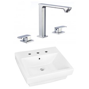 Great choice Ceramic Rectangular Vessel Bathroom Sink with Faucet and Overflow By American Imaginations