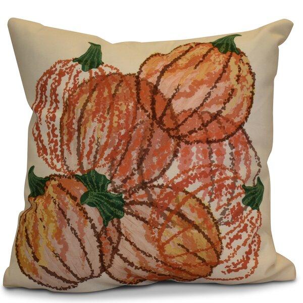 Miller Pumpkin Pile Geometric Outdoor Throw Pillow by Alcott Hill