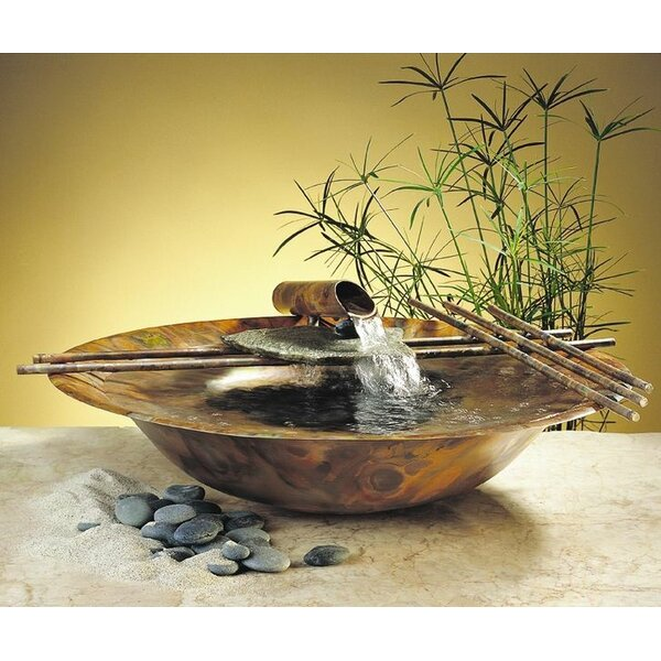 Copper Nature Bowl Medium Tabletop Fountain by Nayer Kazemi