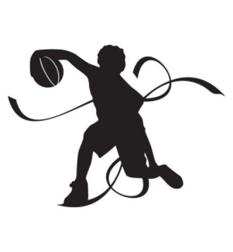 Basketball Player Wall Decal by Style and Apply