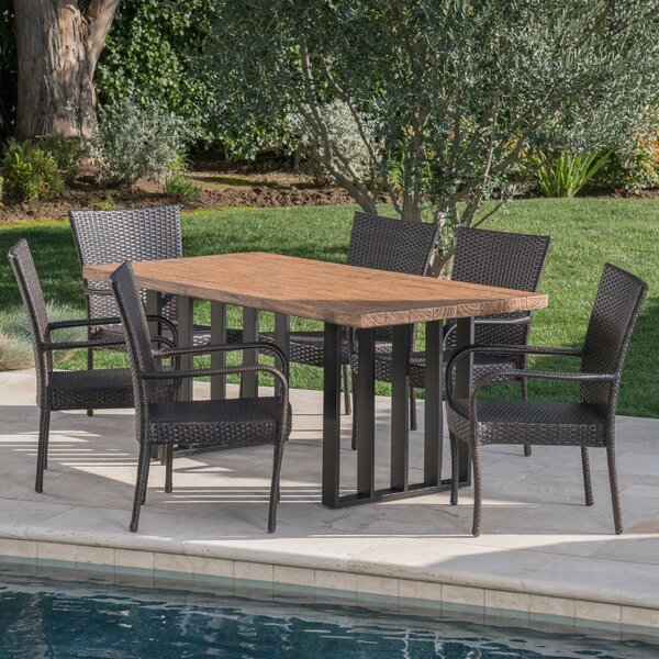 7 Piece Dining Set by Gracie Oaks