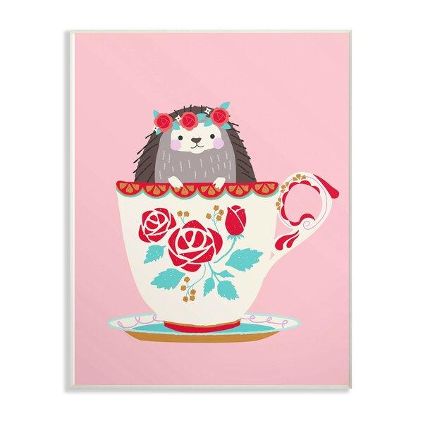 Kings Coach Hedgehog in Teacup Decorative Plaque by Harriet Bee