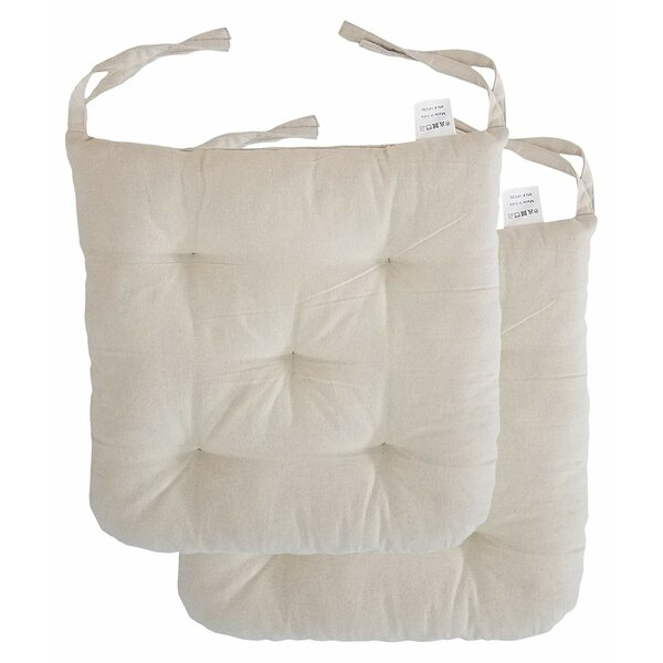 Cottone Indoor/Outdoor Dining Chair Cushion (Set of 2)