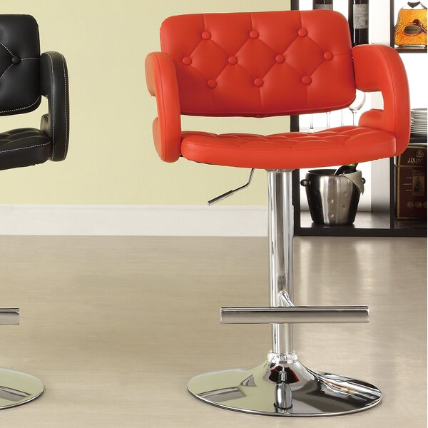 Agrippa Adjustable Height Swivel Bar Stool (Set of 2) by Orren Ellis