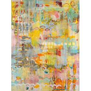 'Happiness Unfolds' by Lesley Grainger Painting Print on Wrapped Canvas by GreenBox Art