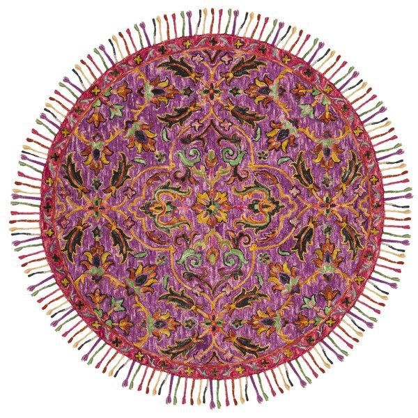 Elford Hand-Tufted Wool Purple Area Rug by Bloomsbury Market