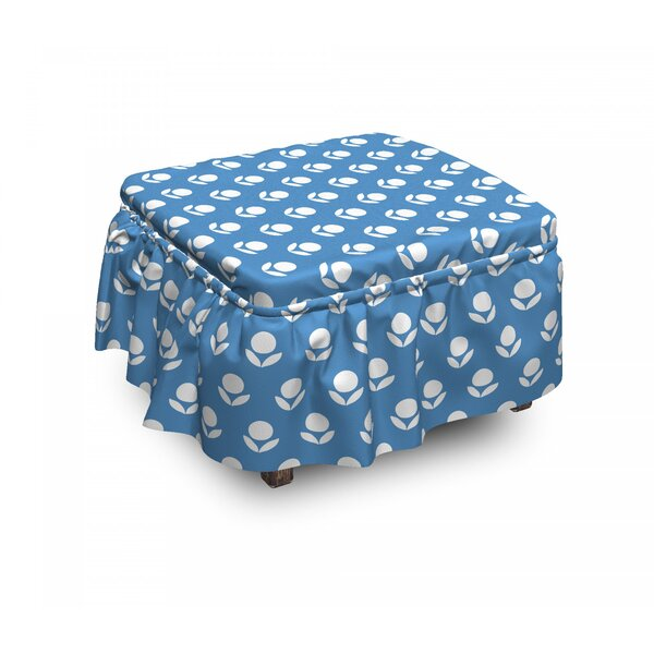 Simplistic Composition Ottoman Slipcover (Set Of 2) By East Urban Home