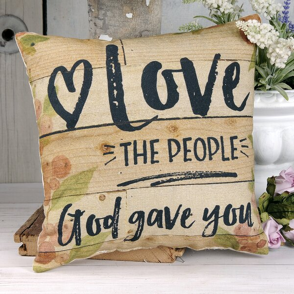 Elborough Love the People Floral Throw Pillow by August Grove