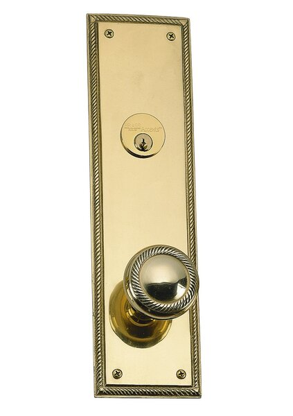 Academy Single Cylinder Entrance Knobset by BRASS Accents