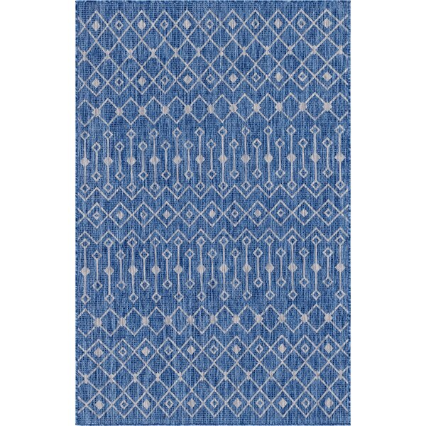 Brylee Blue/Beige Indoor/Outdoor Area Rug by Gracie Oaks