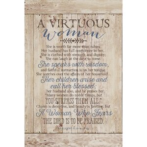 Virtuous Woman… Textual Art Plaque by Dexsa
