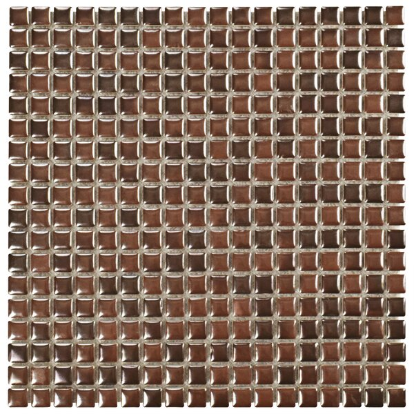 Arcadia 0.56 x 0.56 Porcelain Mosaic Tile in Tetsu Ore by EliteTile