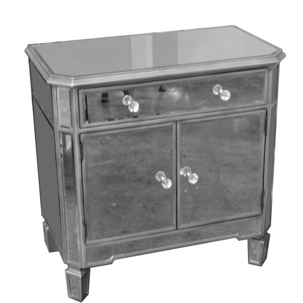 Fausley Wood and Glass 2 Door Accent Cabinet by House of Hampton